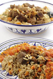Beef kabsa meal with sauce Stock Photo