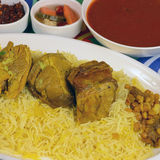 Beef Kabsa. Mixed rice dishes that originates in Yemen. Middle  eastern food Stock Photo