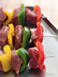 Beef kebab Royalty Free Stock Photos