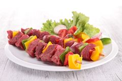 Beef kebab Royalty Free Stock Photo