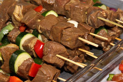 Beef Kebabs Royalty Free Stock Images