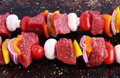 Beef kebabs Royalty Free Stock Image