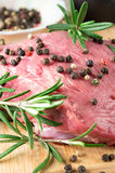 Beef at the kitchen for cooking Stock Image