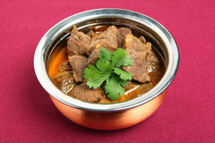Beef korma and coriander Stock Photography