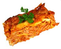 Beef lasagna Stock Photos