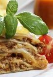 Beef lasagna Stock Photo