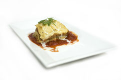 Beef lasagna Royalty Free Stock Photography
