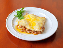 Beef lasagne Stock Images