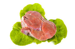 Beef with lettuce Royalty Free Stock Photography