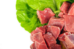 Beef with lettuce Royalty Free Stock Photos