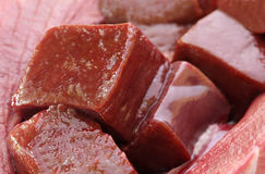Beef liver. Close up of Beef liver with selective focus Royalty Free Stock Photo