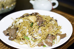 Beef Lo Mein Stock Photo