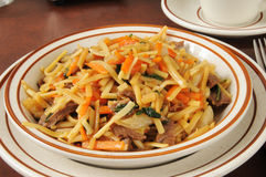 Beef lo mein Stock Images