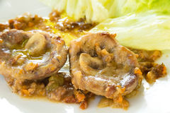 Beef Marrowbones with sauce Royalty Free Stock Photo