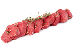Beef Meat. Fresh raw beef isolated on a white background Stock Photo