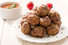 Beef meat balls royalty free stock photo