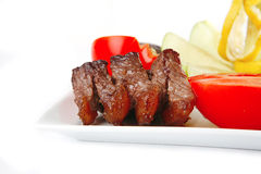 Beef meat on dish Royalty Free Stock Images