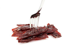 The beef meat dried Stock Photo