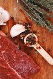 Beef meat fillet with peppercorn Royalty Free Stock Photography