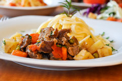 Beef meat macaroni Royalty Free Stock Photo