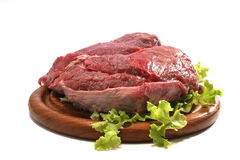 Beef meat over white Royalty Free Stock Image