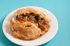 Beef meat pie. Meat pie made with roast beef in a savoury gravy Royalty Free Stock Photo