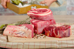 Beef meat for Pot-au-feu Royalty Free Stock Images