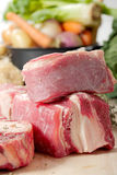 Beef meat for Pot-au-feu Stock Photos