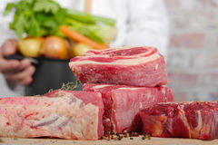 Beef meat for Pot-au-feu Stock Images