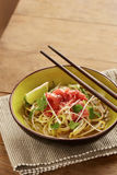 Beef meat rice noodle pho soup Royalty Free Stock Image