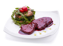 Beef meat with sauce Royalty Free Stock Photo