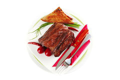 Beef meat sectioned Stock Photos