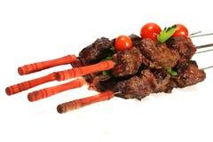 Beef meat on skewer Stock Photos