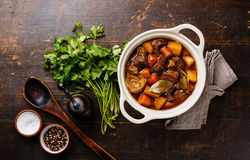 Beef meat stewed with vegetables Royalty Free Stock Image
