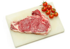 Beef meat and tomatoes Stock Photos