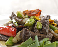 Beef Meat With Vegetables stock image