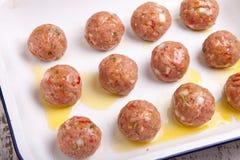 Beef meatballs Stock Photos