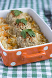Beef meatballs with braised cabbage and carrot Royalty Free Stock Image