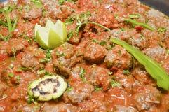 Beef meatballs at an egyptian restaurant buffet Stock Photos
