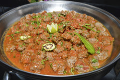Beef meatballs at an egyptian restaurant buffet Royalty Free Stock Image