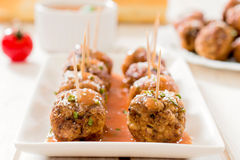 Beef meatballs Royalty Free Stock Photo