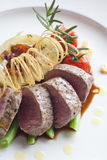 Beef medallions. With the detail Royalty Free Stock Photo