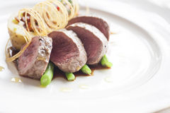 Beef medallions. With the detail Stock Image