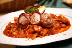 Beef medallions  in Hungarian Royalty Free Stock Photo