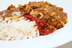 Beef  mince curry Stock Photography