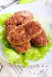 Beef mince meat cutlets Stock Photography