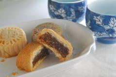 Beef Moon Cake. Chinese Beef Moon Cake dessert Stock Image