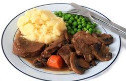 Beef and mushroom stew mealhorizontal Stock Photos