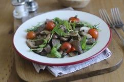 Beef, mushroom and tomato salad Stock Photo