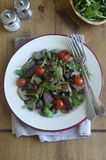 Beef, mushroom and tomato salad Royalty Free Stock Images